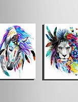 Animal Moderno Estilo Europeu,1 Painel Tela Vertical Impressão artística Decoração de Parede For Decoração para casa