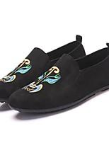 Herren Loafers & Slip-Ons Komfort Leuchtende Sohlen Leinwand Frühling Sommer Herbst Winter Outddor Büro Lässig Walking KombinationFlacher