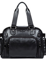 Men Tote Cowhide All Seasons Business Bag Casual Handbag Big Messenger Bag Trendy Shoulder Bag D8075