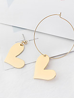 Women's Drop Earrings Simple Style Mismatch Fashion Euramerican Cooper Heart Jewelry For Daily