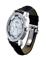 Women's Fashion Watch Quartz Calendar Water Resistant / Water Proof Leather Band Black White