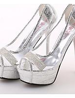Women's Heels Comfort Glitter Spring Casual Silver Flat