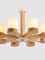 LightMyself 8 Lights Chandelier Modern/Contemporary Traditional/Classic Vintage Country Wood Feature for Living Room Bedroom Dining Room