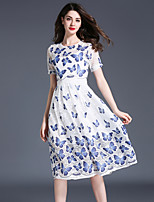 Maxlindy Women's Going out Casual/Daily Party Vintage Street chic Sophisticated A Line Dress