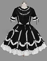 Un Pezzo/Vestiti Dolce Lolita Cosplay Vestiti Lolita Vintage Ad aletta Manica corta Corto / Mini Abito Per Altro