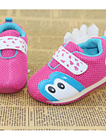 Girls' Athletic Shoes First Walkers Leatherette Spring Fall Casual Walking First Walkers Magic Tape Low Heel Black Blue Light Pink Flat