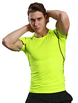 Men's Running T-Shirt Quick Dry Breathable Soft Compression Comfortable T-shirt Tops forCamping / Hiking Exercise & Fitness Racing