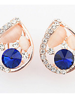 Stud Earrings  Women's Girls' Korean Style Opal Rhinestone  Friendship Delicate Droplets Earrings Set Movie Jewelry