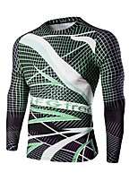 Men's Long Sleeve Bike Sweatshirt T-shirt Tops Breathable Comfortable Sports Printing Summer Exercise & Fitness Leisure Sports