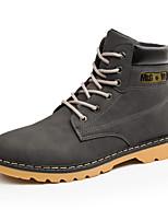 Men's Boots Comfort Leather Spring Fall Outdoor Comfort Flat Heel Brown Gray Black Walking Shoes