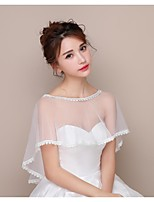 Women's Wrap Capelets Lace Tulle Wedding Birthday Party