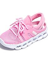Girls' Sandals Comfort PU Spring Casual Comfort Gray Blushing Pink Flat