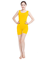 Unisex Lycra Spandex Leotard Scoop Neck Sleeveless Elastane Bodysuit Costume