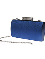 Women Evening Bag PVC Polyester All Seasons Formal Event/Party Wedding Baguette Clasp Lock Ruby Silver Black Gold Pool