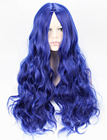 Popular Bule Color Body Wave Synthetic Cosplay Wigs For Women