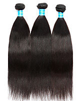 Vinsteen Brazilian Yaki Hair Weaves 3Pcs Virgin Human Hair Bundles Cheap Hair Extensions Natural Black Color Human Hair Weaves