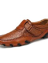 Для мужчин Туфли на шнуровке Удобная обувь Светодиодные подошвы Кожа Полиуретан Лето Осень Для вечеринки / ужинаУдобная обувь