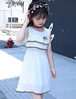 Vestido Chica de Novedad A Rayas Sin Mangas Verano