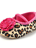 Baby Kids' Loafers & Slip-Ons First Walkers Fabric Summer Fall Party & Evening Dress Casual Animal Print Flower Flat Heel Rose Pink Flat