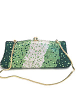 Lady Delicate Rhinestone Clutches And Evening Bags in Multi Green