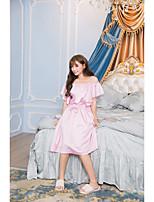 Feminino Baby-doll & Slip Conjunto Roupa de Noite,Sensual Sólido