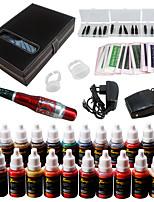 Solong Tattoo Augenbraue Kit dauerhafte Make-up Maschine Tattoo 23 Tinte Nadel ek709-5