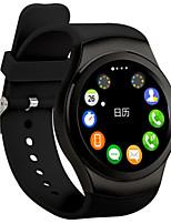 Masculino Mulheres Relógio Esportivo Relógio Inteligente Digital Monitor de Batimento Cardíaco Comunicação Silicone Banda Preta Branco