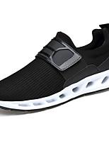 Men's Sneakers Comfort Light Soles PU Spring/Fall Casual Outdoor Comfort Light Soles Hook & Loop Flat Heel Black Flat