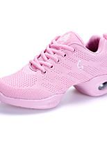 Keine Maßfertigung möglich Damen Modern Kunstleder Stoff Sneakers Im Freien Seidenfaden Flacher Absatz Weiß Schwarz Fuchsia 5 - 6,8 cm