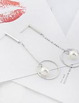 Femme Boucles d'oreille goutte Perle imitée Mode euroaméricains Alliage Forme de Cercle Bijoux Pour Quotidien Décontracté 1 paire