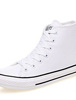 Women's Sneakers Comfort PU Spring Casual Comfort Burgundy Black White Flat