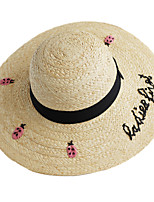 Women's Straw Straw Hat,Cute Casual Patchwork Spring Summer Fall Embroidered