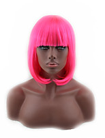 Cosplay Wig Girls Short Hair BOBO Head Qi Liuhai Rrd Wig 12inch