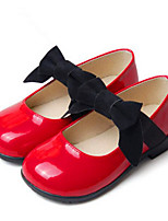 Girls' Flats First Walkers PU Spring Fall Casual Walking First Walkers Magic Tape Low Heel Ruby Black Gold Flat