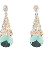 Femme Garçon Boucles d'oreille goutte Strass Imitation de diamantBasique Original Géométrique Amitié Simple Style USA Durable British