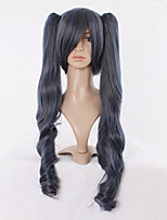 75cm Cartoon Wig Blue Deacon the Head of Blue Gray Cosplay Wig
