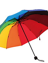 Creative Korean Rainbow Folding Female UV Protection Rain and Rain