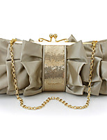 L.WEST Women's fashion silk flower dinner bag