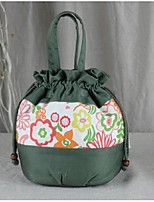 Women Tote Canvas All Seasons Barrel Flower Toggle