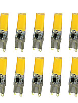 10 PCS 5W G9 Decoration Light T 2508 COB 350-400LM  Warm White/ Cool White Dimmable AC220 V
