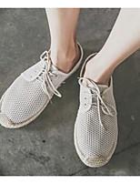 Men's Sneakers Comfort Breathable Mesh Tulle Spring Casual Black Beige Flat