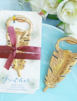 Gilded Gold Feather Bottle Opener Beter Gifts® Tea Party Favor