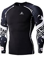 Camisa para Ciclismo Homens Manga Comprida Moto Pulôver Blusas Secagem Rápida Vestível Respirável Esportivo EstampadoExercício e