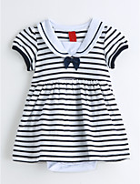 Baby Stripes One-Pieces,Cotton Summer Short Sleeve