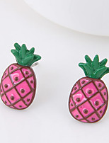 Women's Stud Earrings Pineapple Euramerican Fashion Alloy Jewelry For Daily Casual 1 Pair