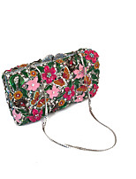 Women Fashion  Handmade Rhinestone Event/Party/Clutches Bag Multi Color