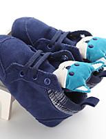 Дети На плокой подошве Обувь для малышей Ткань Весна Осень Повседневные Обувь для малышей Животные принты На плоской подошвеБелый