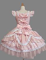 Un Pezzo/Vestiti Dolce Lolita Cosplay Vestiti Lolita Vintage Ad aletta Senza maniche Corto / Mini Abito Per