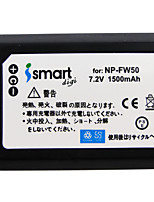 Ismartdigi FW50 7.2V 1500mAh Camera Battery for Sony A7 A7R A7RM2 A6300 A5100 A6000