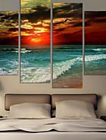 Art Print Landscape Modern Four Panels Horizontal Pigment Print Wall Decor For Home Decoration